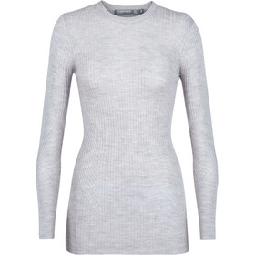 Icebreaker Valley Slim Crew Sweater Damen steel heather